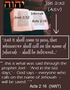 Calling on the Name Jehovah to be Delivered