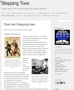 Stepping Toes Doel Nov. 14 12.51