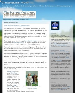 Christadelphian World 11 Nov 2013