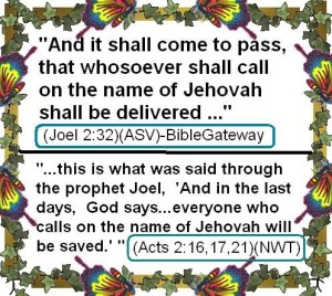 Calling on the Name Jehovah