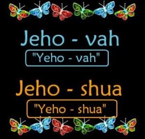 Jehova vs Jehoshua