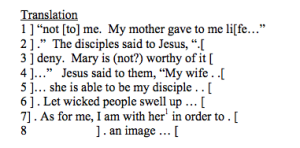 Jesus wife papyrus translation