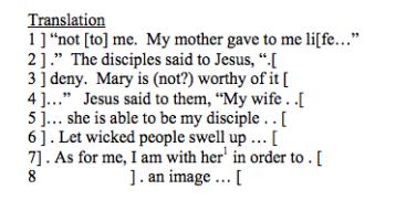 Jesus wife papyrus translation