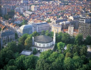 The Great Mosque of Brussels is the oldest mosque in Brussels. It is located in the Cinquantenaire Park. It is also the seat of the Islamic and Cultural Centre of Belgium.