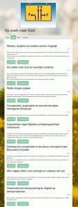 Blog pagina van Op zoek naar God (Dutch component of the triptych in search for God)