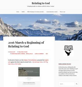 Relating to God - Blog on WordPress