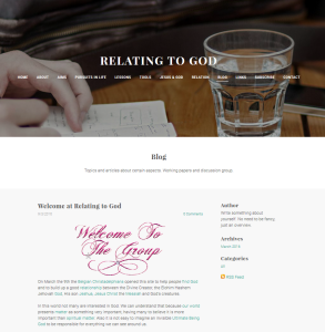 Relating to God - a website for those looking for a relationship with the Divine Creator Deity